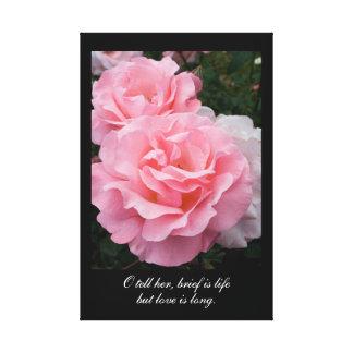 報告書は生命ですが、愛は長いです(Tennysonの引用文) キャンバスプリント