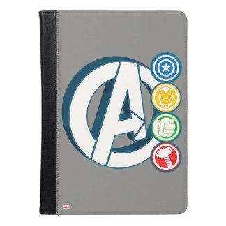報復者キャラクターのロゴ iPad AIRケース