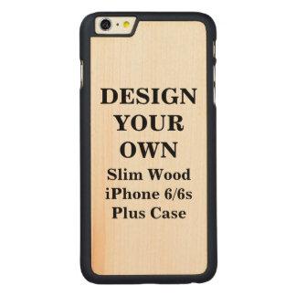 場合とあなた自身のiPhone 6/6s細い木を設計して下さい CarvedメープルiPhone 6 Plus スリムケース