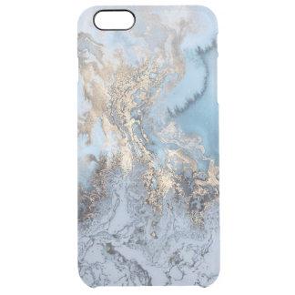 場合と大理石の金青の抽象芸術のiphone 6/6S クリア iPhone 6 Plusケース
