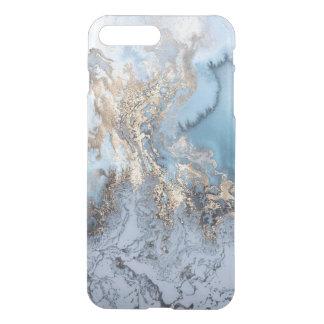 場合と大理石の金青の抽象芸術iPhone7 iPhone 7 Plusケース
