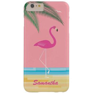 場合の珊瑚とビーチのiPhone 6/6sのピンクのフラミンゴ Barely There iPhone 6 Plus ケース