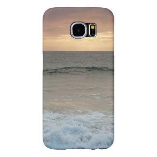 場合: ビーチは日没の後で振ります SAMSUNG GALAXY S6 ケース