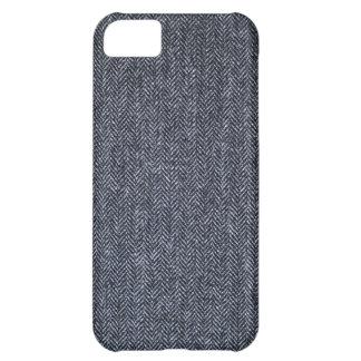 場合: 灰色のツイードの生地 iPhone5Cケース