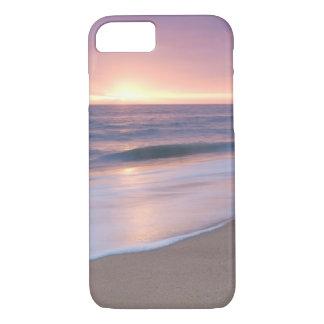 場合: 穏やかなビーチは日没の間に振ります iPhone 8/7ケース