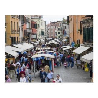 場外市場、ベニス、イタリアの観光客 ポストカード