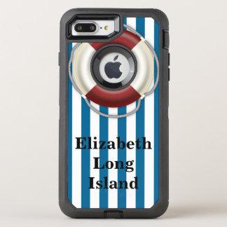場所および名前のビーチのデザイン オッターボックスディフェンダーiPhone 8 PLUS/7 PLUSケース