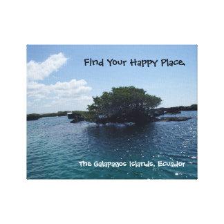場所のガラパゴスの幸せな木エクアドル キャンバスプリント
