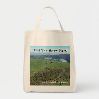 場所のニュージーランドの幸せなトート トートバッグ