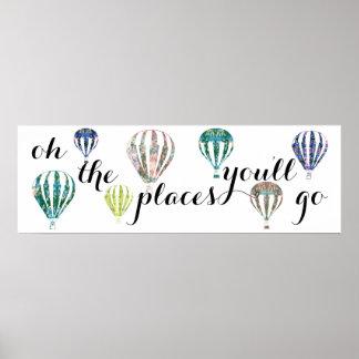 場所インスピレーション の熱気の気球の行きます プリント
