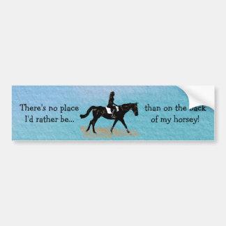 場所私はむしろ-乗馬の馬ではないです バンパーステッカー