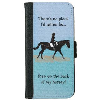 場所私はむしろ-乗馬の馬ではないです iPhone 6/6S ウォレットケース