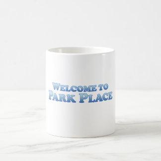 場所- Multプロダクト--を駐車する歓迎 コーヒーマグカップ