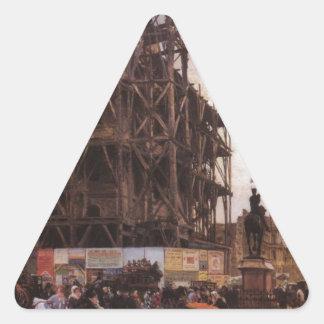 場所des Pyramides、パリジウゼッペde Nittis 三角形シール