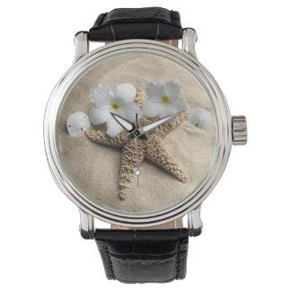 場面ヒトデを腕時計のダイヤルでsanddollar紙やすりで磨けば 腕時計