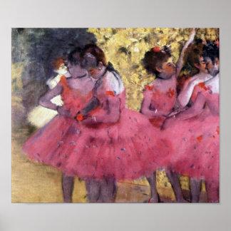 場面間のピンクのダンサー ポスター