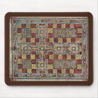 場面Lindisfarneの福音: Meister著作のカーペットのページ マウスパッド