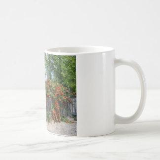 塀に上る花 コーヒーマグカップ