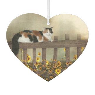 塀のさらさの子猫猫 カーエアーフレッシュナー