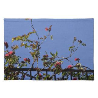 塀のピンクの花 ランチョンマット