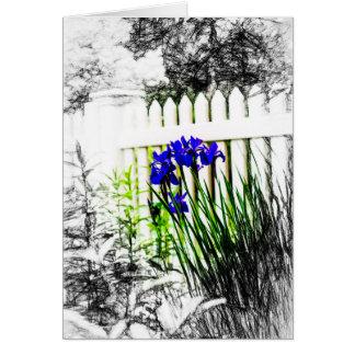 塀の芸術のnotecardsによるアイリス カード