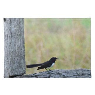 塀田園クイーンズランドオーストラリアのウイリーWAIGTAIL ランチョンマット
