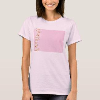 塀-ピンクのフラクタルのTシャツ Tシャツ