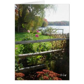 塀、花、群葉、S Cyr カード