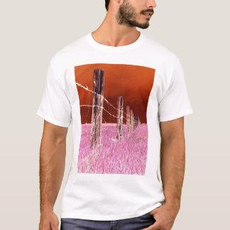 塀(赤い) Tシャツ