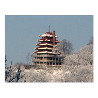 塔の降雪 ポストカード