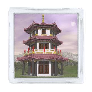 塔- 3Dは描写します シルバー ラペルピン