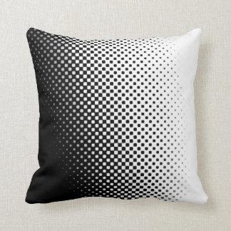塩およびコショウハーフトーンパターン枕 クッション