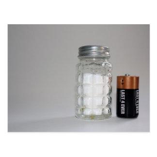 塩および電池 ポストカード