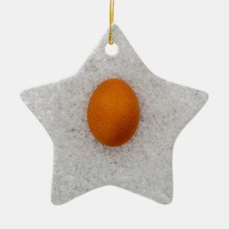 塩が付いている卵 セラミックオーナメント