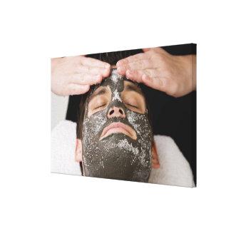 塩が付いているskincareのマスクを加えること キャンバスプリント