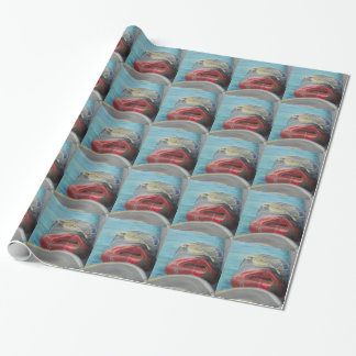 塩によって走られる包装紙でつながれる ラッピングペーパー