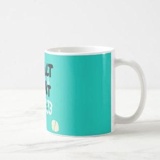 塩及びライトのティール(緑がかった色)があって下さい コーヒーマグカップ