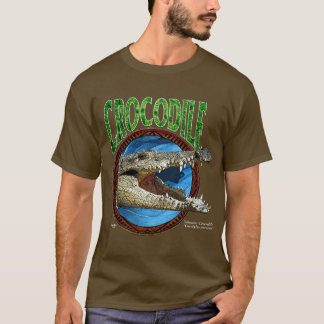 塩水のワニのTシャツ Tシャツ