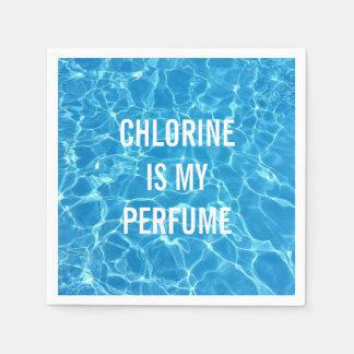 塩素は印刷私の香水のプールです スタンダードカクテルナプキン