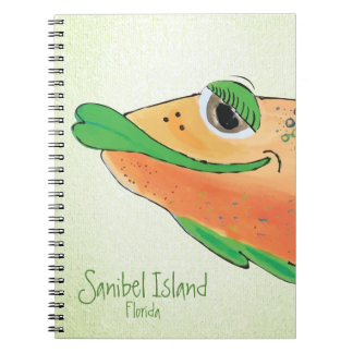 塩辛いサムの愛らしい魚の芸術- Sanibelの島 ノートブック
