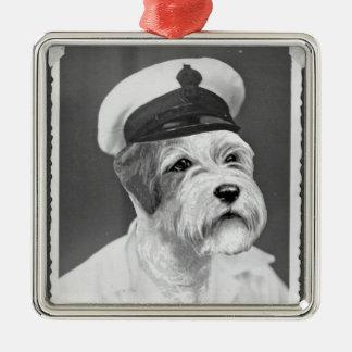 塩辛い海犬のSealyhamの船員のギフト メタルオーナメント