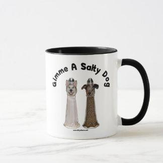 塩辛い犬の塩およびコショウ犬 マグカップ