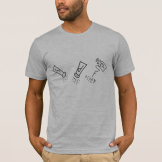 塩、コショウ、スプレーのティー、人 Tシャツ