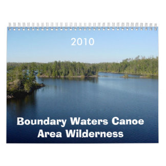 境界はカヌー区域の荒野に2010年のCalenda水をまきます カレンダー