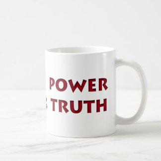 境界力は真実を征服します コーヒーマグカップ