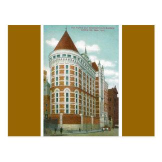 墓および刑事法廷の建物、NY ポストカード