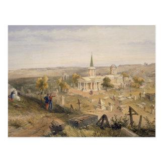 墓地および教会の「Seからのプレートを検疫して下さい ポストカード