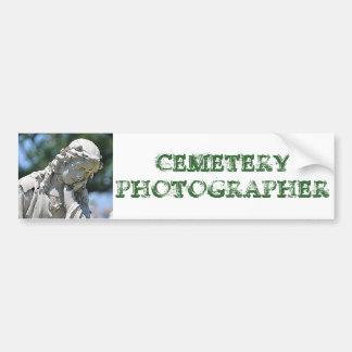 墓地のカメラマンのバンパーステッカー バンパーステッカー