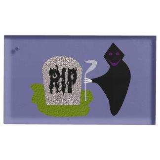 墓地のハロウィンのテーブルカードホルダーの死 テーブルカードホルダー