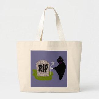 墓地のハロウィンのトートバックの死 ラージトートバッグ
